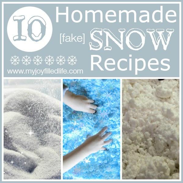 Homemade {fake} Snow Recipes